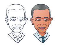 Vector portrait of president Barack Obama Stock Photo