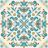 Vector Portuguese tile. Beautiful colored pattern for design royalty free illustration