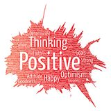 Vector positive thinking, happy strong attitude Stock Image
