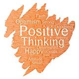 Vector positive thinking, happy strong attitude Stock Photos