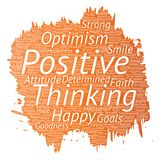 Vector positive thinking, happy strong attitude Royalty Free Stock Photography