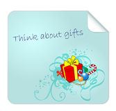 Vector Post it for Christmas Gifts Royalty Free Stock Photo