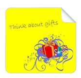 Vector Post it for Christmas Gifts Stock Image
