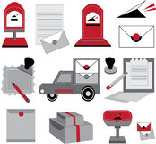 Vector of post office design. The icon of post office design for illustration work vector illustration