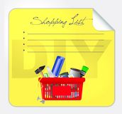 Vector post-it shopping list illustration Stock Photo