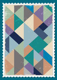 Vector post stamp. With retro pattern Stock Photo