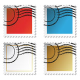 Vector post stamp stickers Stock Photo