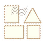 Vector post stamps Royalty Free Stock Photography
