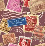 Vector Postage Seamless Background Royalty Free Stock Photography