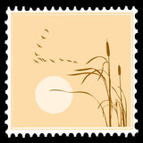 Vector postage stamps Royalty Free Stock Photos