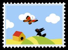 Vector postage stamps Royalty Free Stock Photography