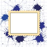 Vector postage stamps frame pattern Stock Images