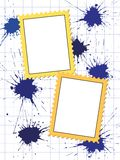 Vector postage stamps frame pattern Royalty Free Stock Photo