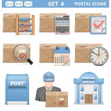 Vector Postal Icons Set 4 Royalty Free Stock Photography