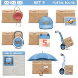 Vector Postal Icons Set 5 Royalty Free Stock Photography