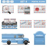 Vector Postal Icons Set 8 Stock Photos
