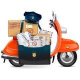 Vector Postal Scooter Stock Photos