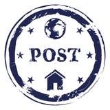 Vector Postal Stamp. International Post. Stock Image