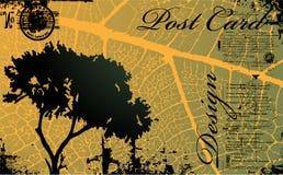 Vector postcard royalty free illustration