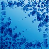 Vector postcard from blue rhombuses on a blue background in a ma. Rine frame. For paper or natural products Stock Image
