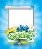 Vector postcard. Spring. Royalty Free Stock Image