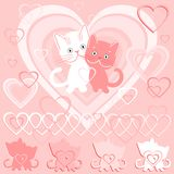 Vector Postcard for Valentine`s day Stock Photo