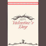 Vector postcard, Valentine's day Royalty Free Stock Photo