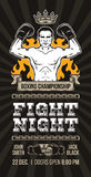 Vector poster announcement boxing championship Royalty Free Stock Photography