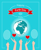 Vector poster for 22 April, Earth Day. Vector illustration. Design for Earth Day poster. Template for greeting card, flyer or banner for Earth Day. Care for the Royalty Free Stock Photo