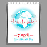 Vector poster for 7 April, World Health Day. Stock Image