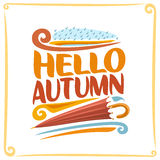 Vector poster for Autumn Royalty Free Stock Photos