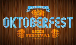 Vector poster for bavarian beer festival with lettering Oktoberf Royalty Free Stock Photos