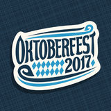 Vector poster for beer festival Oktoberfest Stock Image