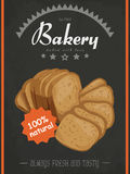 Vector poster with a bread product in a sketch style. Vector illustration for your design stock illustration