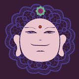 Buddah face  poster Royalty Free Stock Image