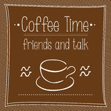 Vector poster Cofee time. Vector typographic poster Cofee time Stock Images