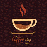 Vector poster cup of coffee Stock Images