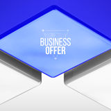 Vector poster design with blue cube Royalty Free Stock Photography