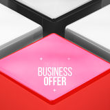 Vector poster design with red cube Royalty Free Stock Photography