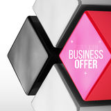 Vector poster design with red and grey cubes Stock Photography