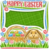 Vector poster for Easter holiday stock illustration