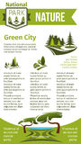Vector poster for eco park and green city Stock Image