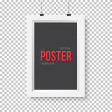 Vector Poster Frame Mockup. Realistic Vector EPS10 Paper Vertica Royalty Free Stock Image
