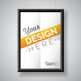 Vector poster frame template of a folded paper sheet Stock Images