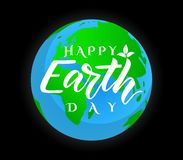 Vector poster Happy Earth Day. Ecology concept stock illustration