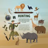 Vector poster hunting concept Stock Image