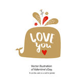 Vector poster `love you.` Stock Images