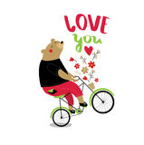 Vector poster `love you.` Royalty Free Stock Images