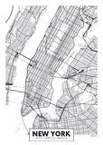 Vector poster map city New York Royalty Free Stock Image