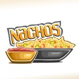 Vector poster for Mexican Nachos royalty free illustration